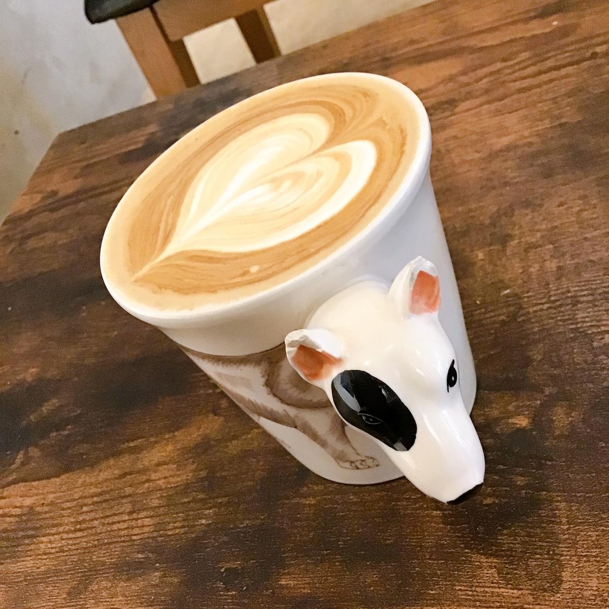 ソイラテと犬のカップ
