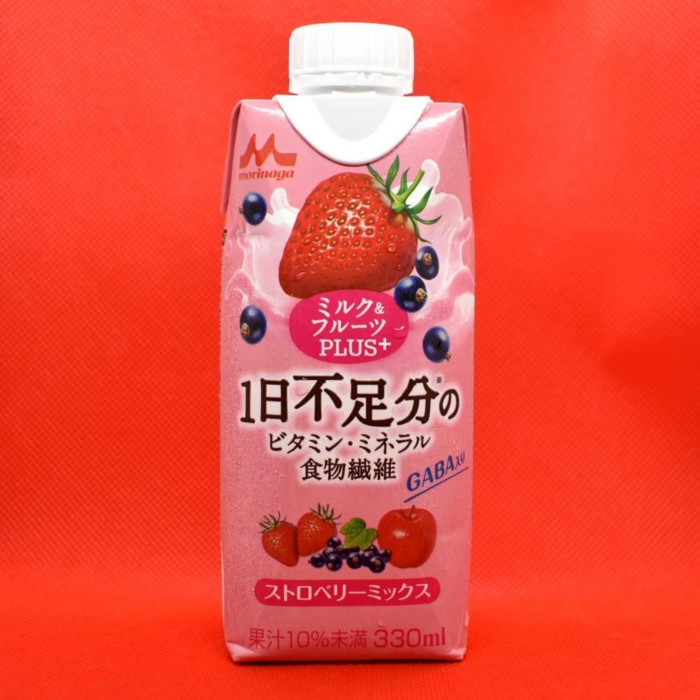 森永乳業 ミルク&フルーツPLUS+ ストロベリーミックス