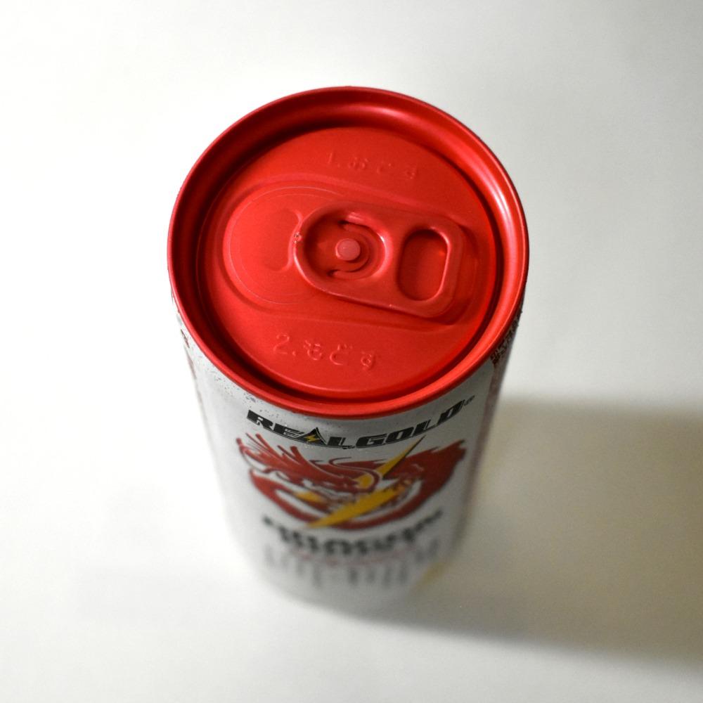 リアルゴールド ドラゴンブースト エナジードリンク 赤いプルタブ