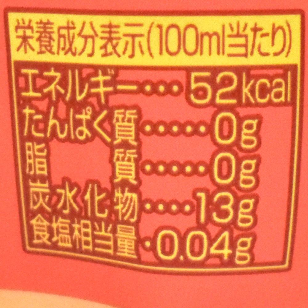 三ツ矢くちどけももの栄養成分表示