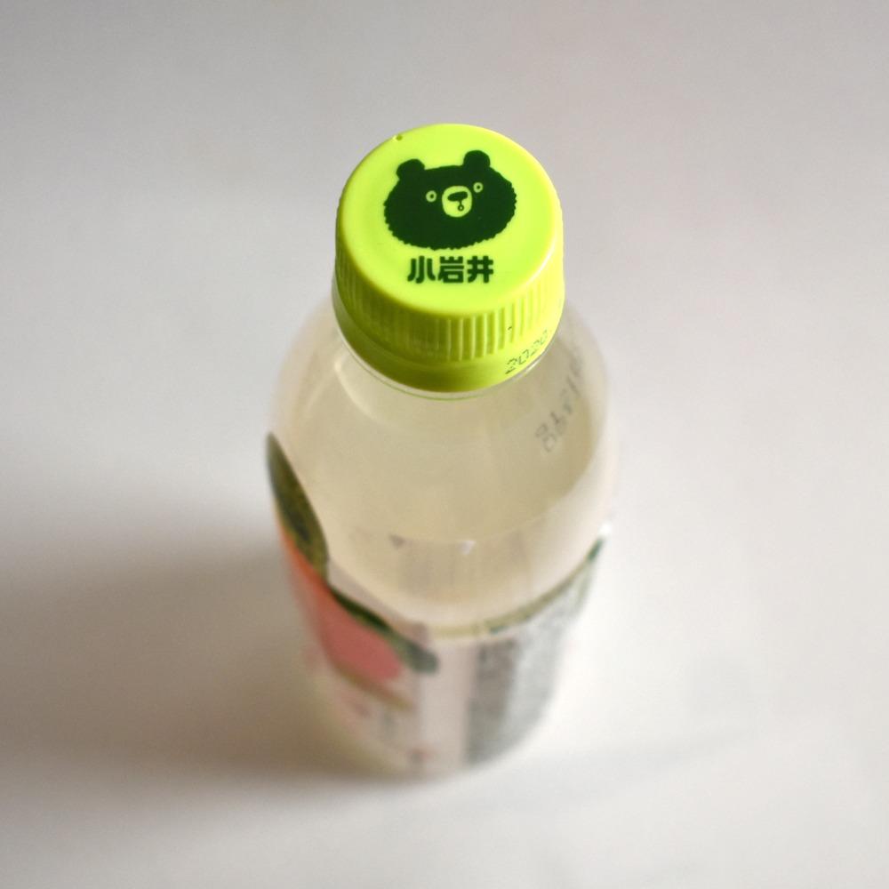小岩井純水白桃のペットボトルキャップ