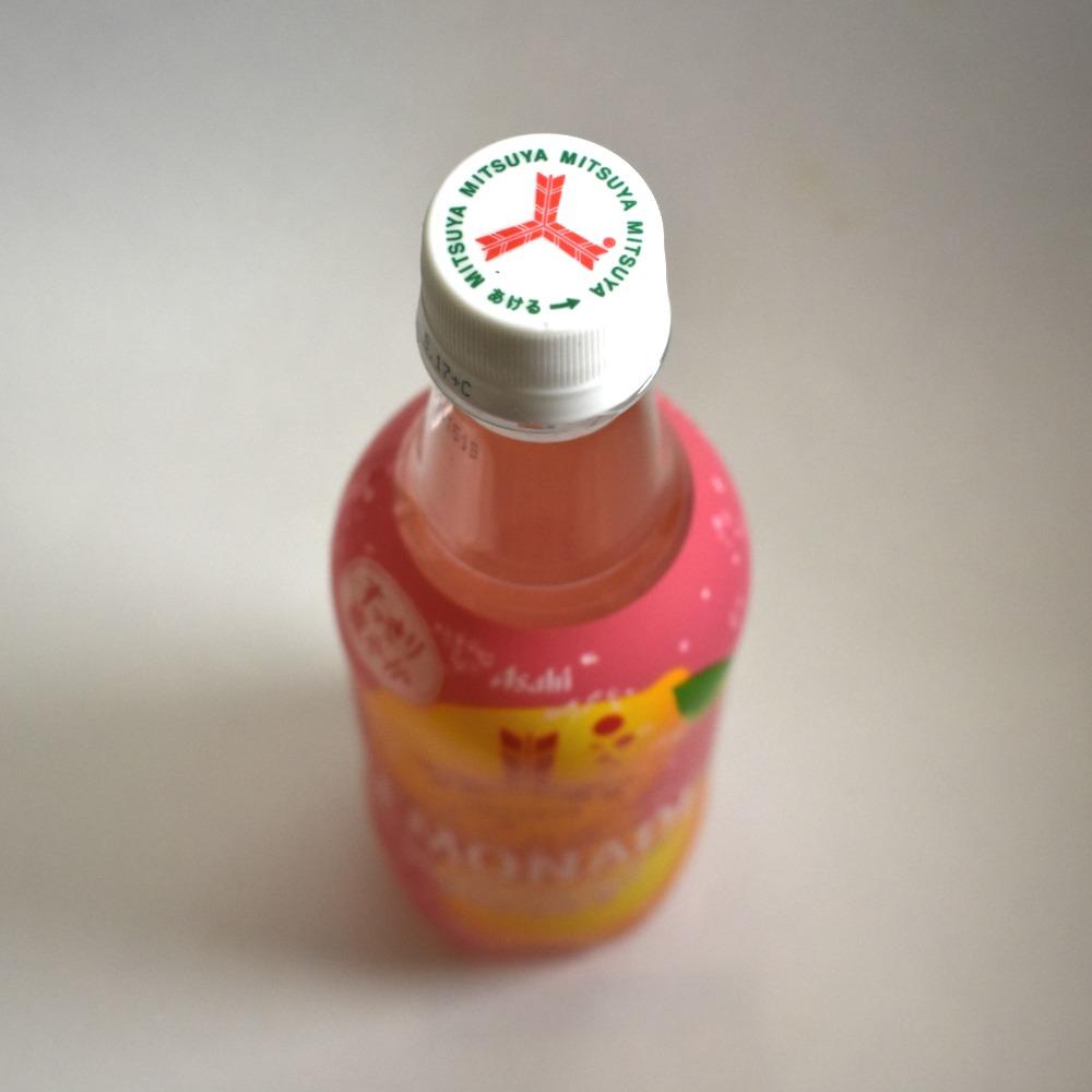 三ツ矢ピンクレモネードのペットボトルキャップ