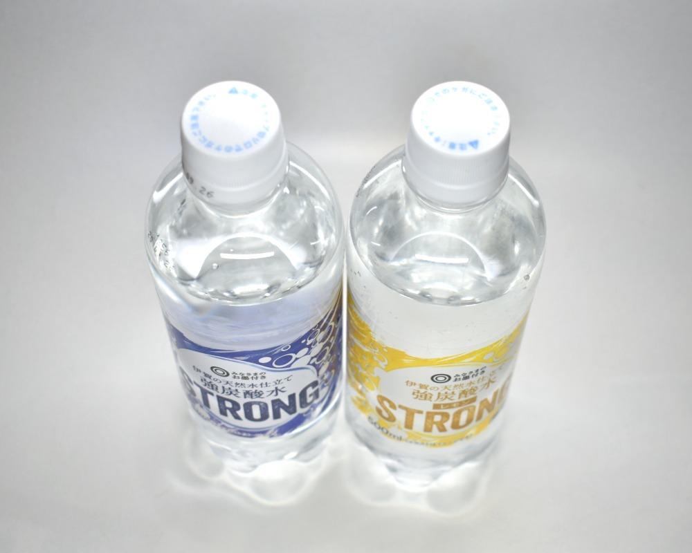 伊賀の天然水仕立て強炭酸水と伊賀の天然水仕立て強炭酸水レモン