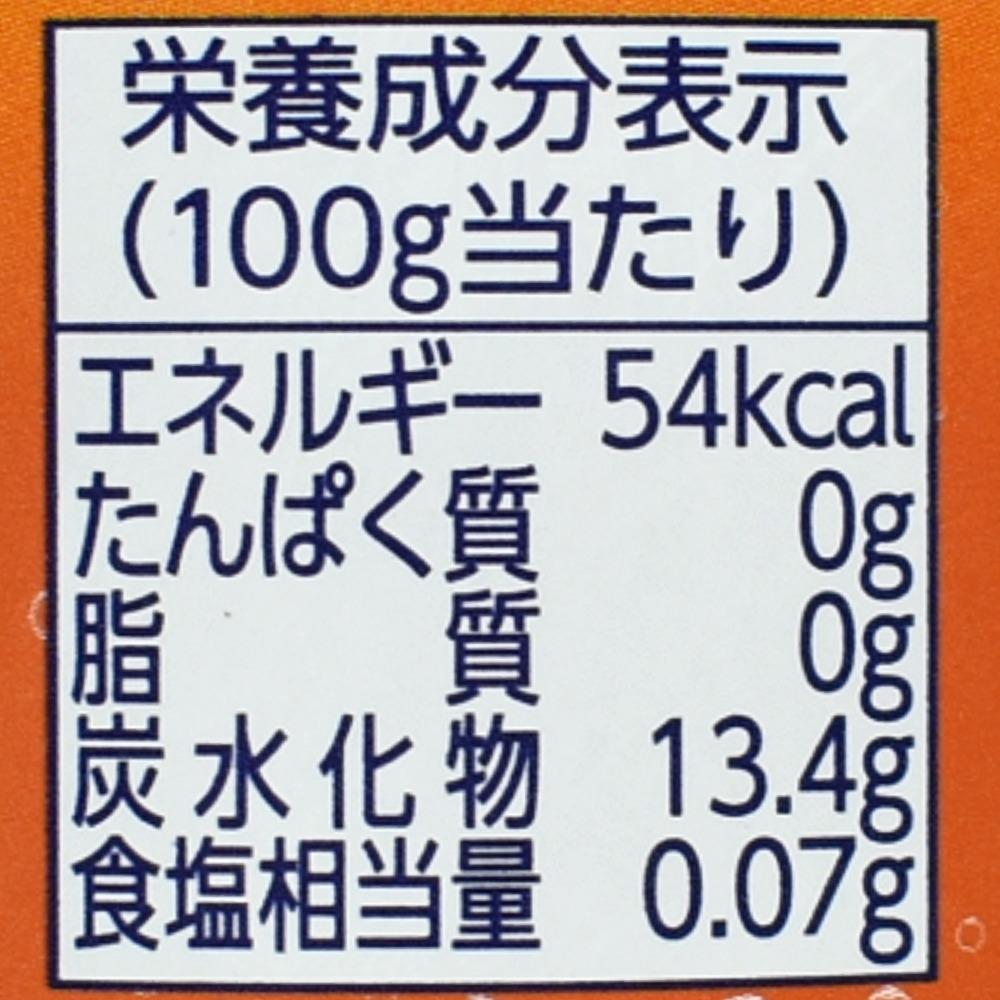 ぷるっシュ!! ゼリー×スパークリング 爽やかオレンジの栄養成分表示
