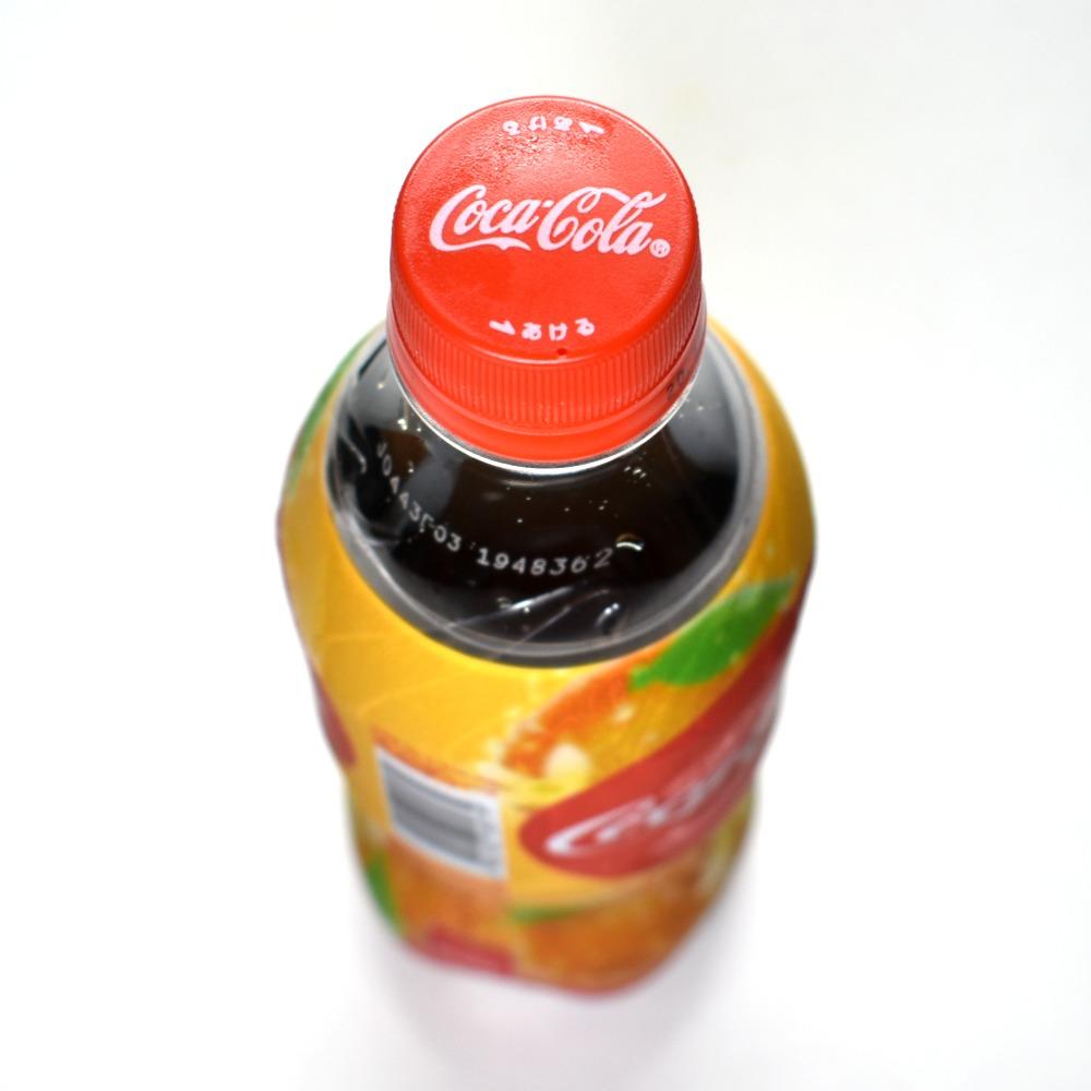 コカ・コーラ オレンジバニラのペットボトルキャップ