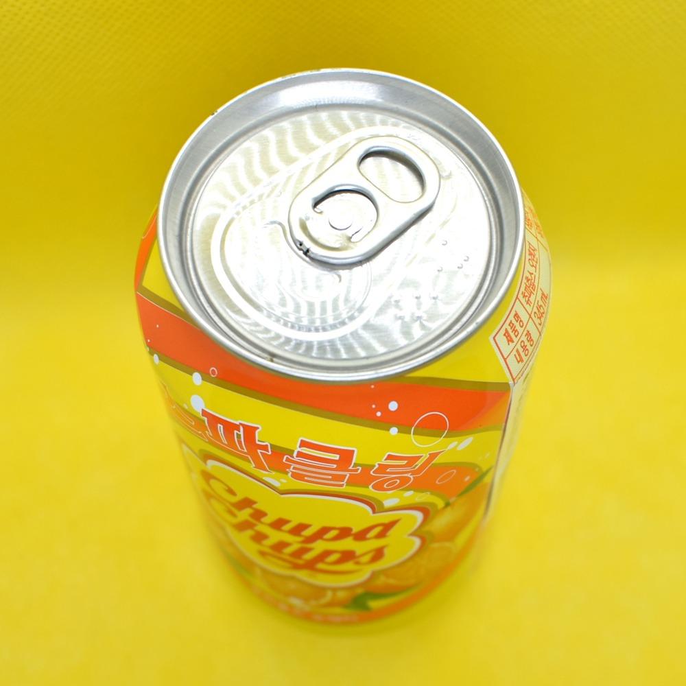 チュッパチャップス・オレンジ・スパークリング缶上部の画像