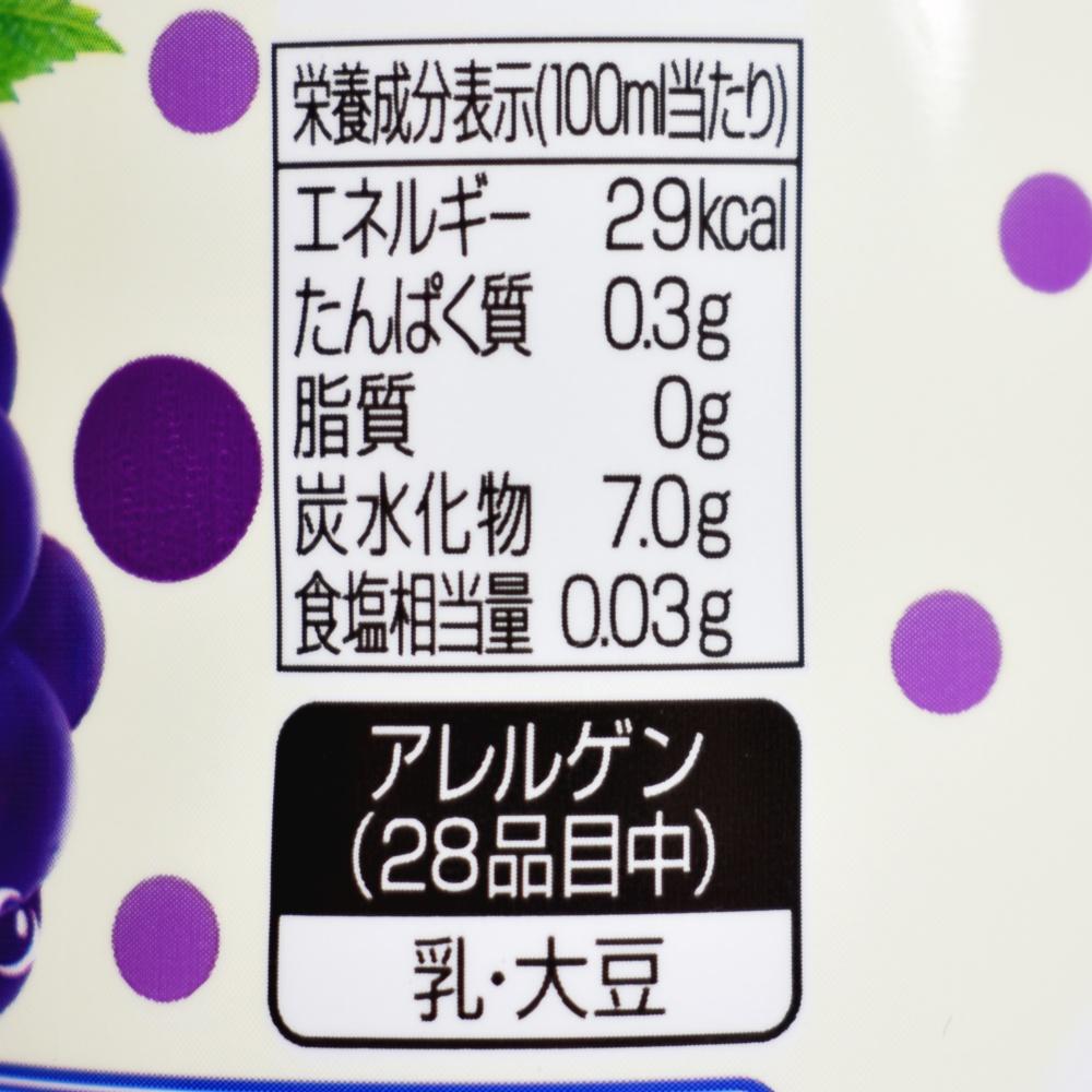 カルピスソーダ贅沢巨峰,栄養成分表示