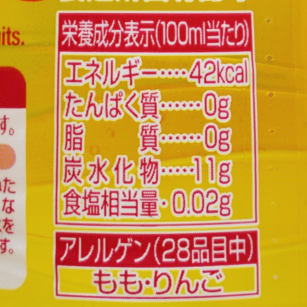 三ツ矢フルーツパンチ,栄養成分表示
