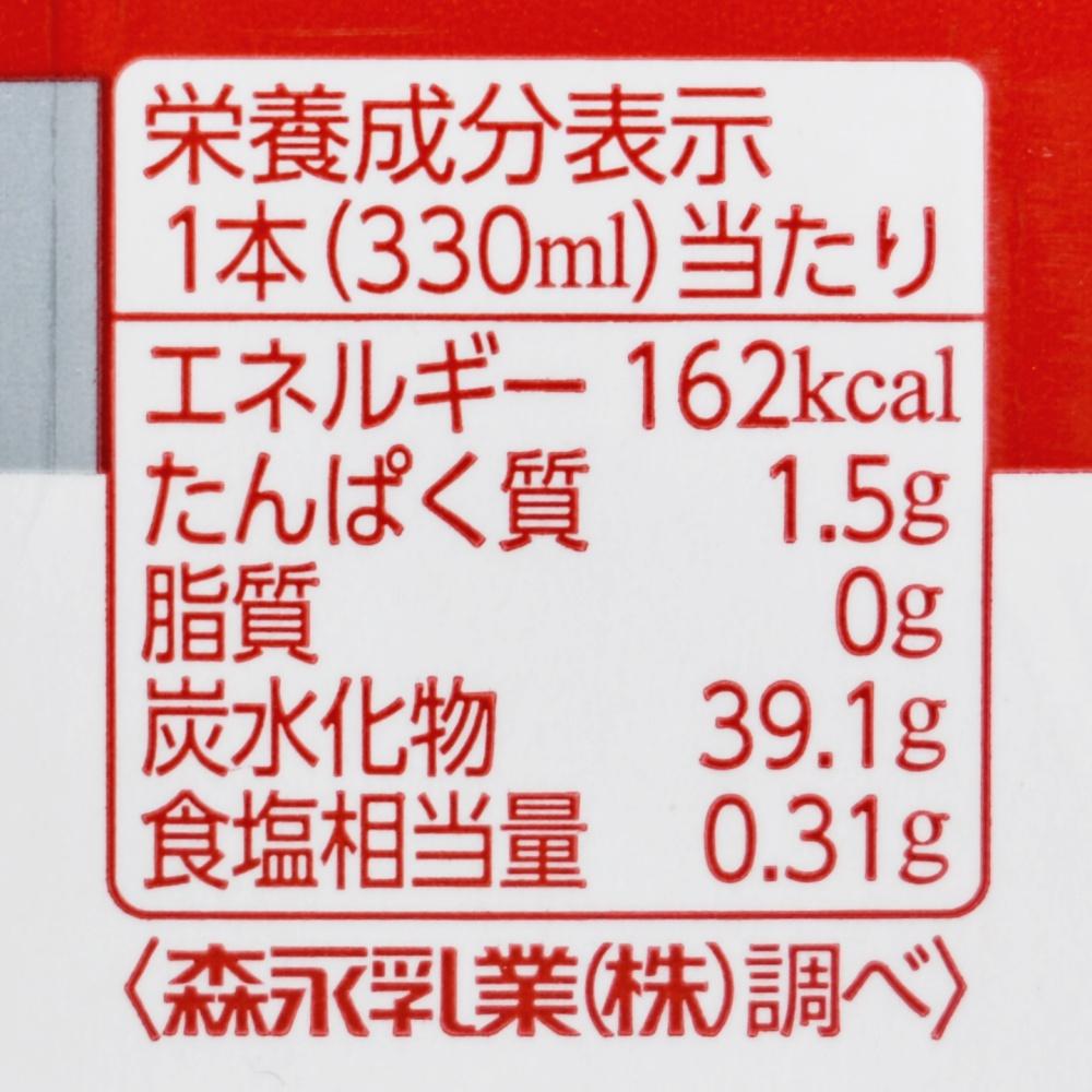 のむシールド乳酸菌ピーチミックス,栄養成分表示