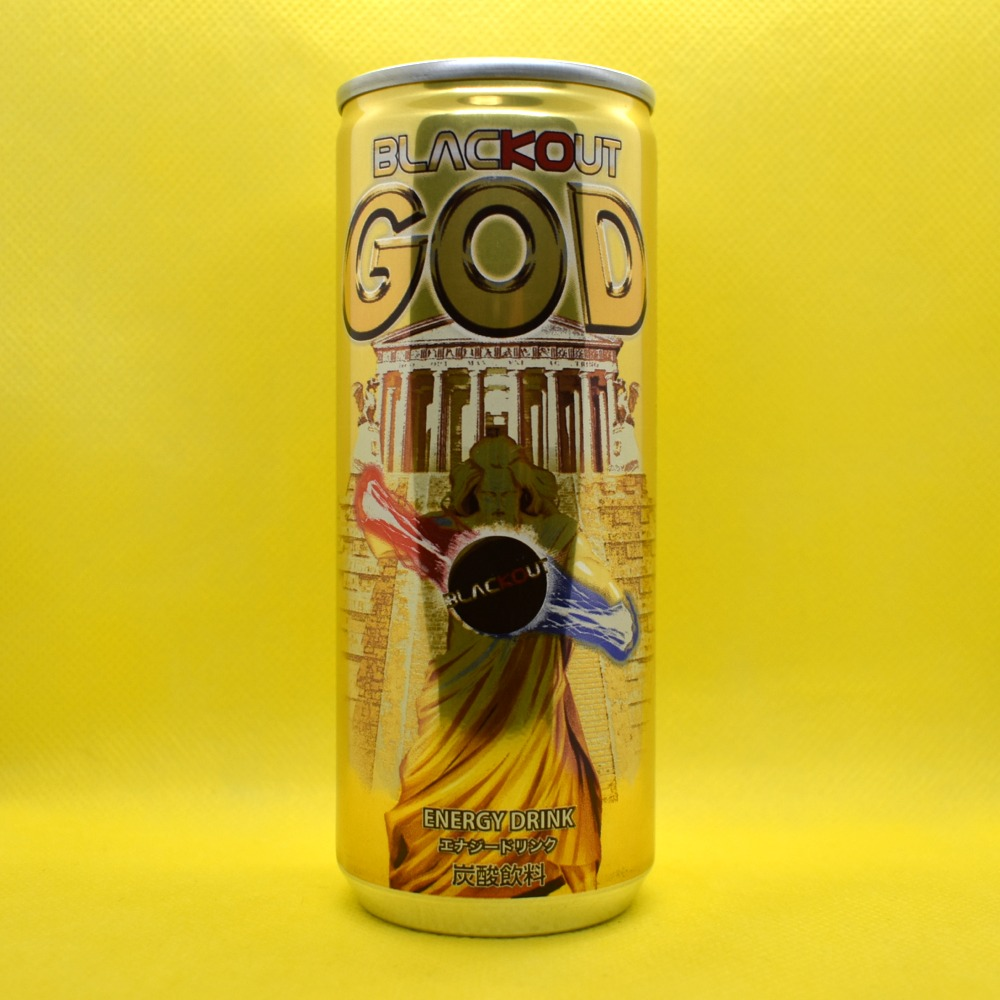 Japanese ENERGY DRINK,BLACKOUT GOD