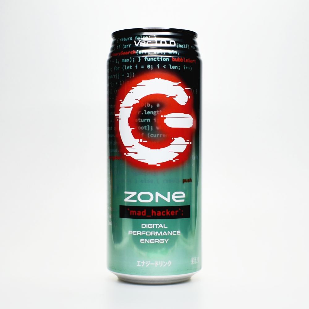 Japanese ENERGY DRINK,ZONe mad_hacker Ver.1.0.0