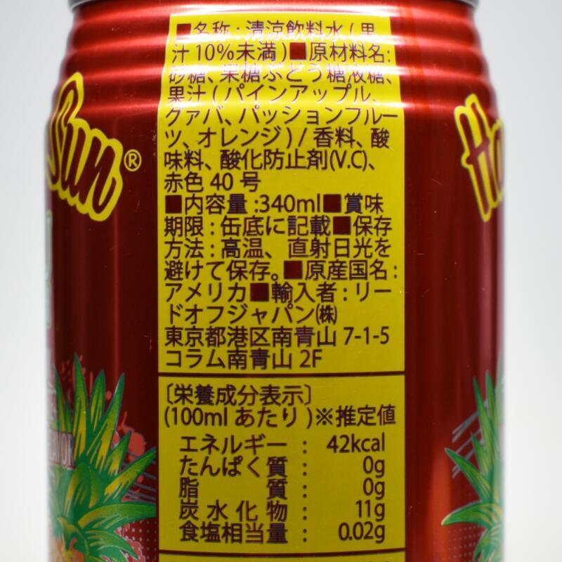 ハワイアンサン ルアパンチ,原材料名,栄養成分表示