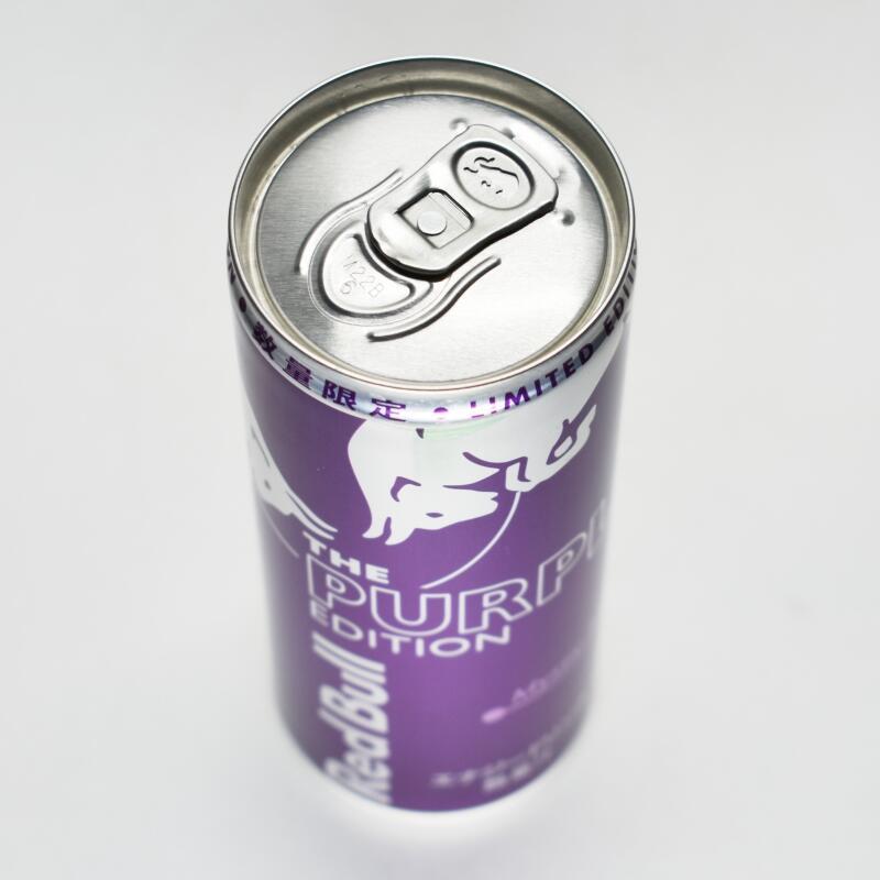 レッドブル・パープルエディション,缶上部