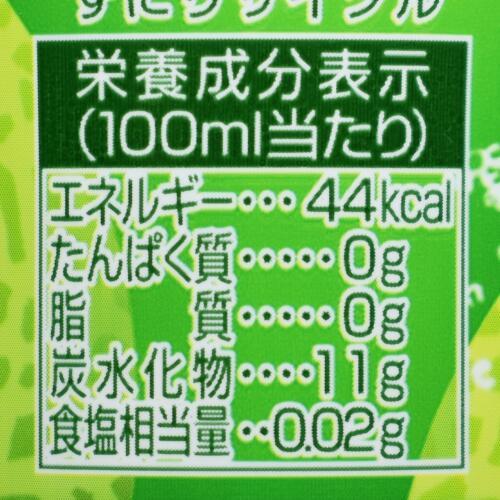 三ツ矢特製メロンソーダ,栄養成分表示