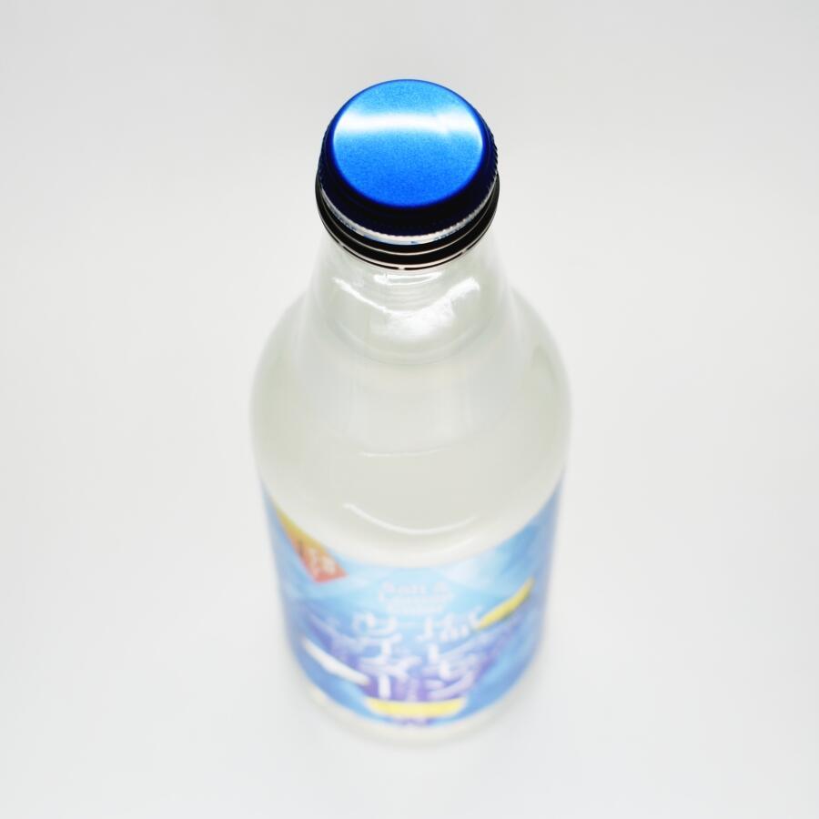 川崎飲料 塩レモンサイダー瓶上部
