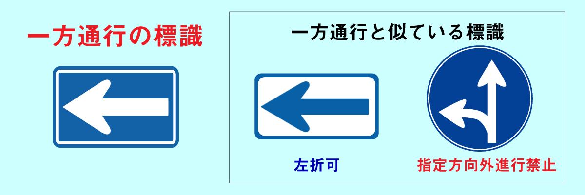 一方通行標識と似ている標識