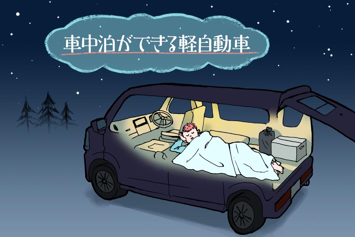 軽 車 自動車 中泊