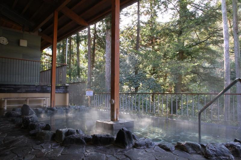 黒茶屋のあとは渓谷温泉「瀬音の湯」でゆったり