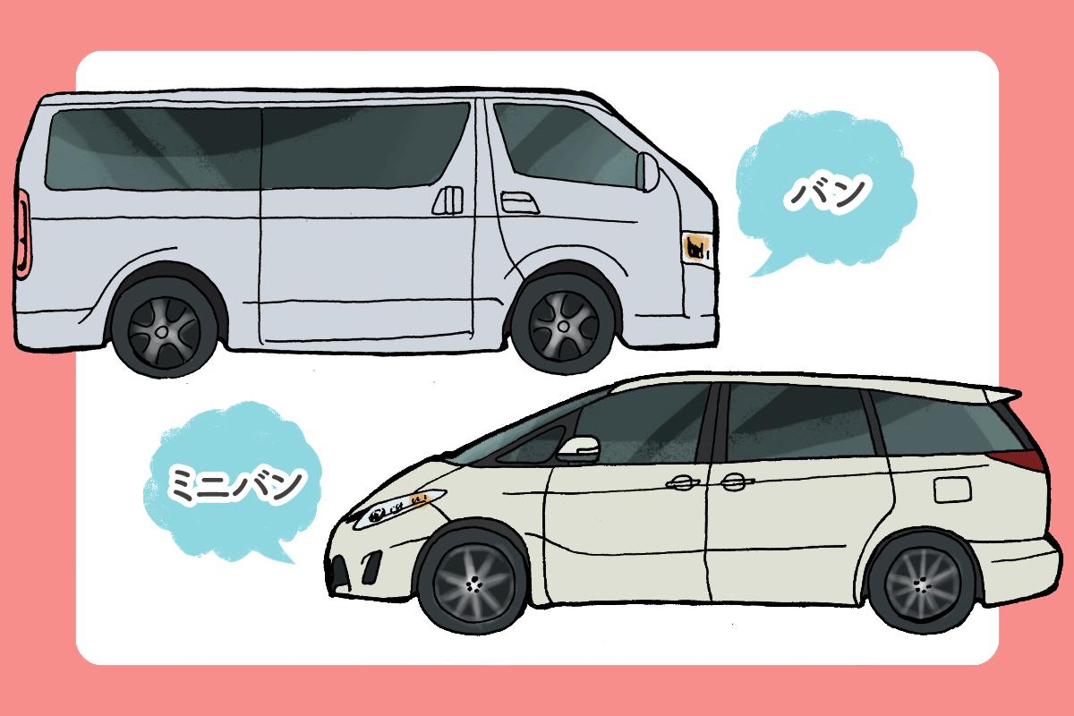 そもそもミニバンと他の車種との違いは?