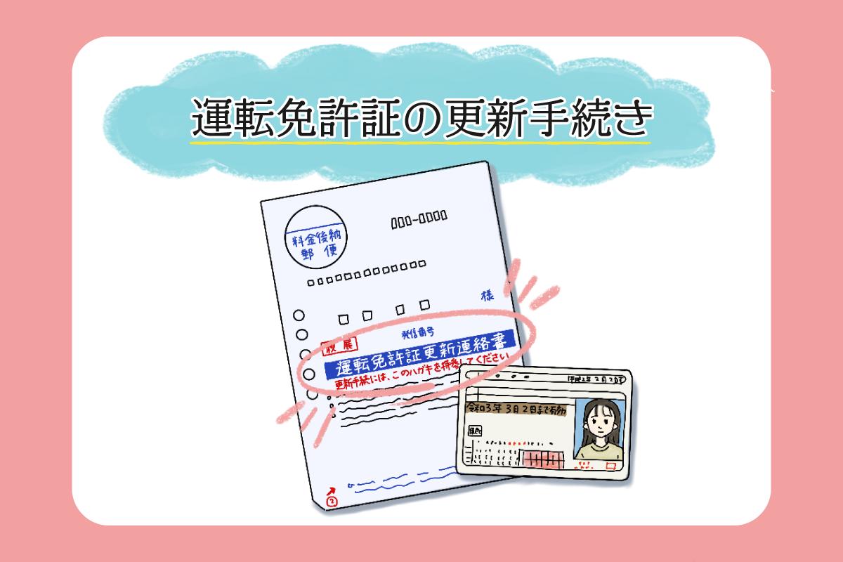 運転免許証の更新手続き