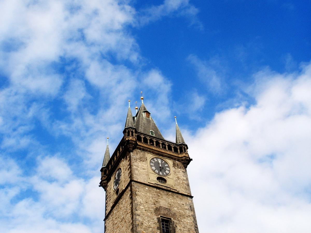 プラハの天文時計の塔