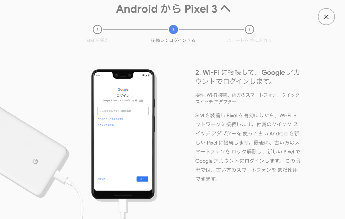 androidからPixel3への移行