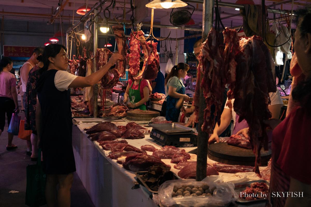 桂林のローカルマーケット