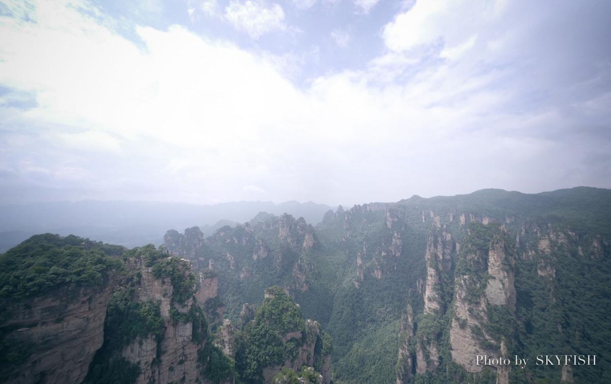 武陵源のMavic Proパノラマ写真