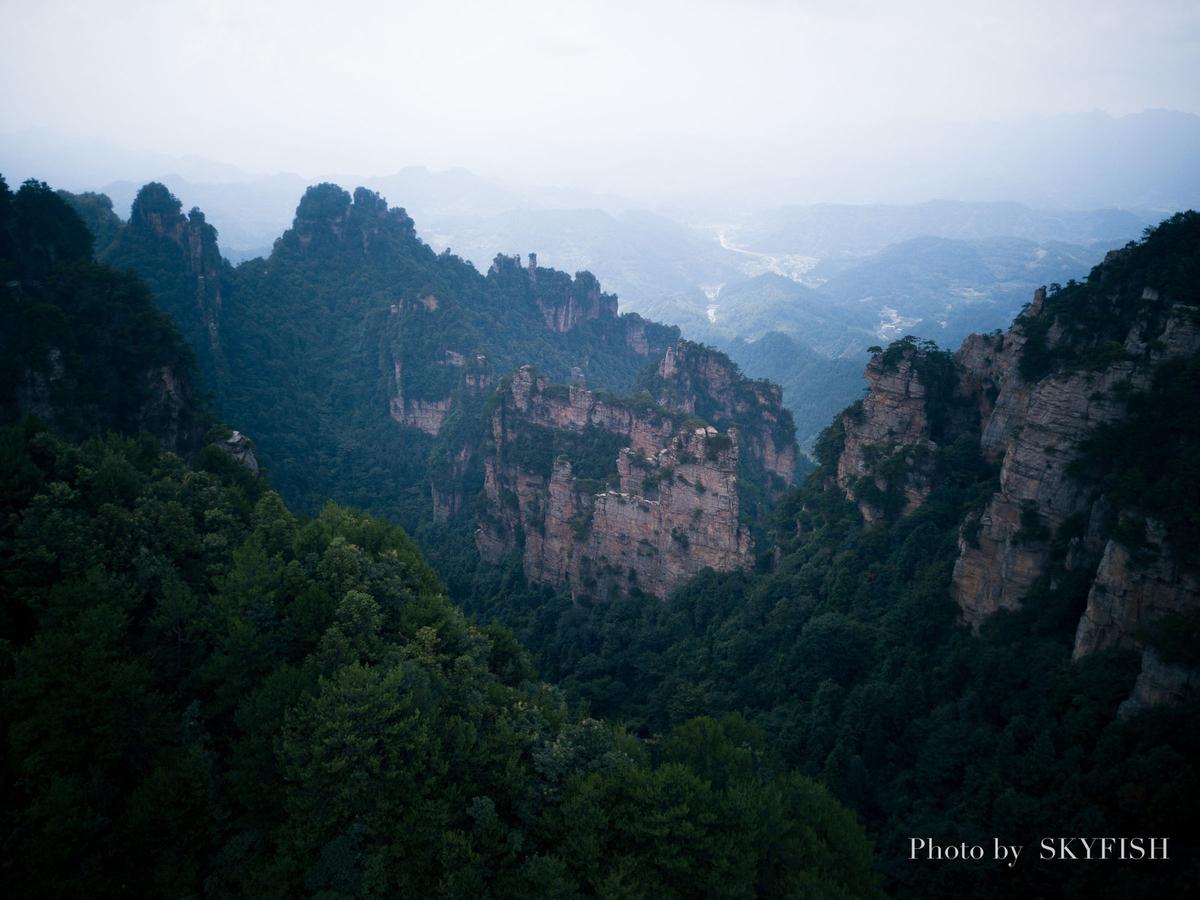 武陵源のMavic Pro空撮写真