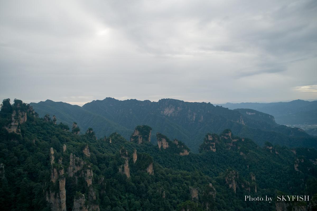 武陵源のドローン空撮