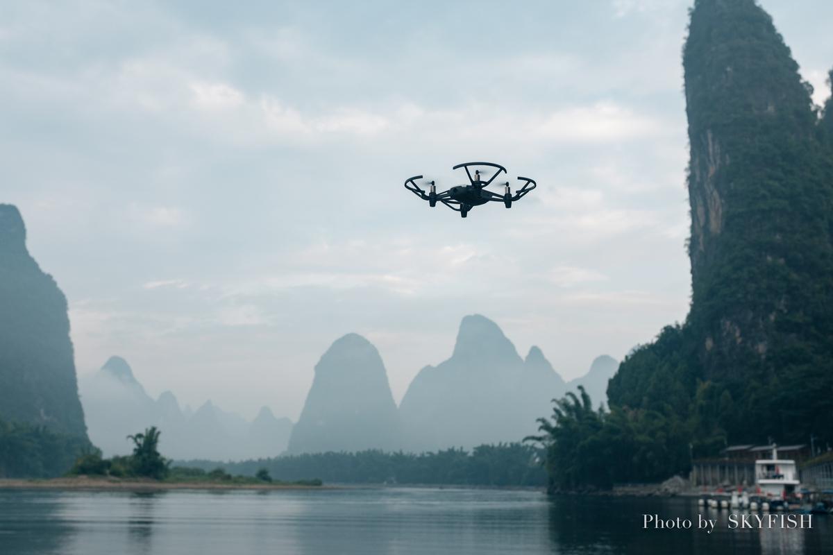 中国桂林で飛ばすドローンTello