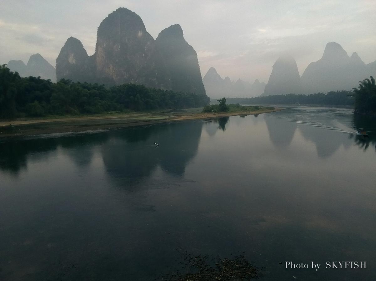 中国桂林で飛ばすドローンTelloの写真