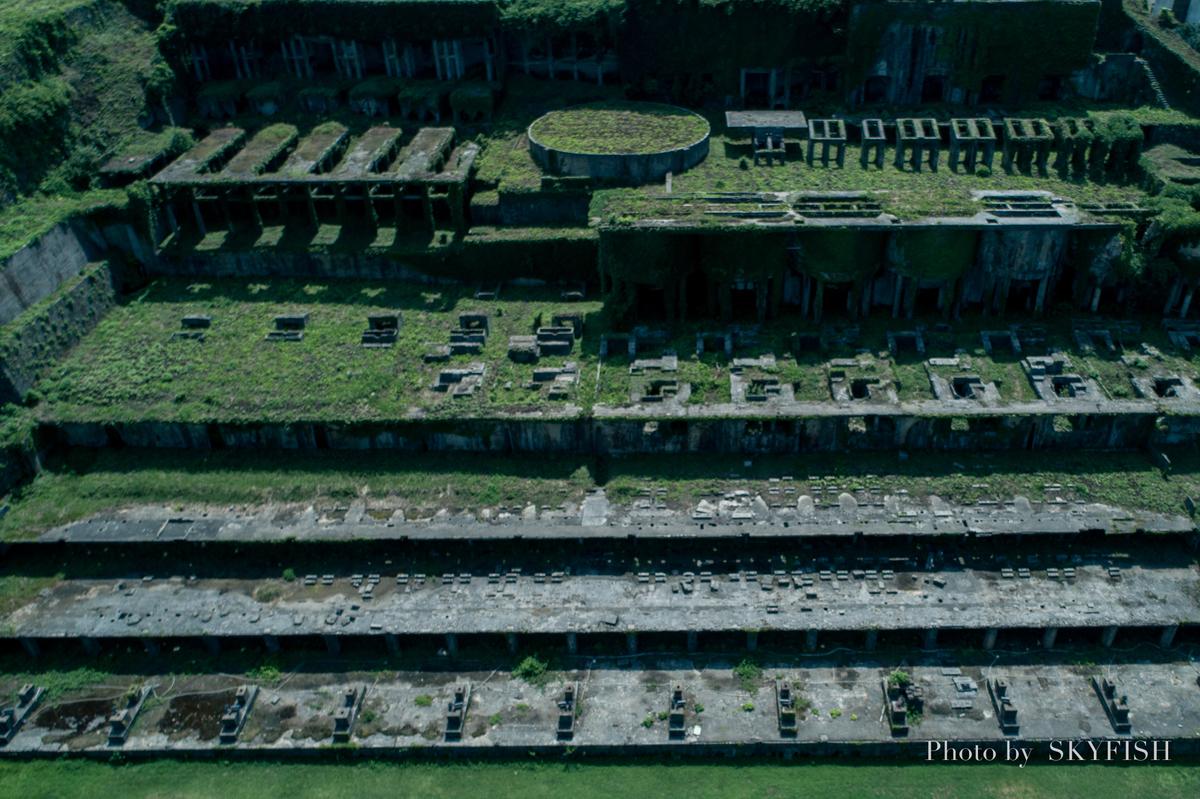ドローンで空撮した北沢浮遊選鉱場跡地