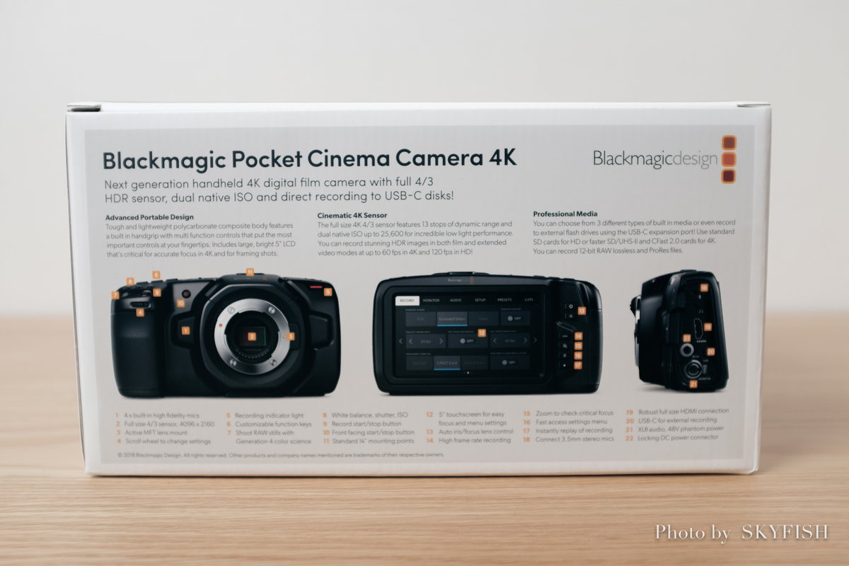 Blackmagic Pocket Cinema Camera 4K シネマカメラ BMPCC4K