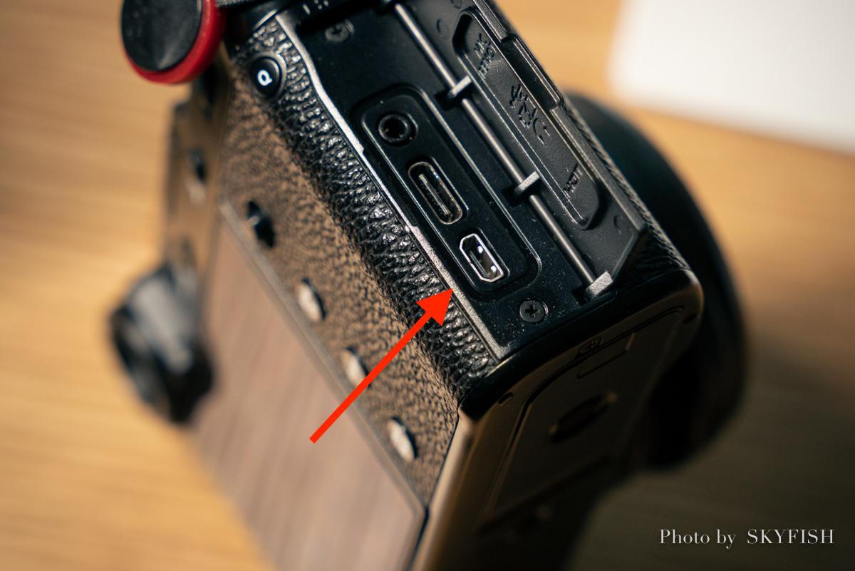 カメラ側のHDMI端子