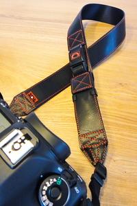DSC-TX5 2DE 2Way カメラストラップ [MODEL-20] ブラック×ブラック×レッド/ブラック(2012.04.14)