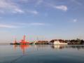 直江津港の夜明け