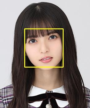 顔検出した画像