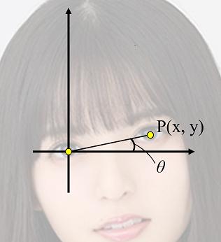 左目が原点の座標系