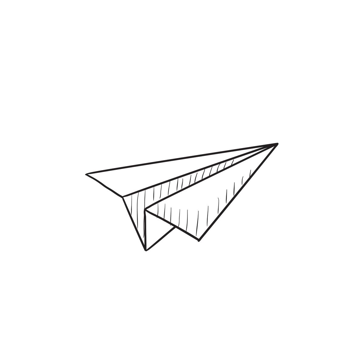 飛行機の折り紙で遊ぶ