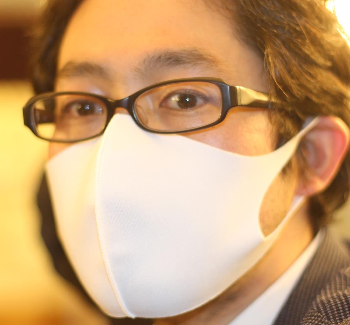 ポリエステル製洗えるフィットマスク 3枚入650円
