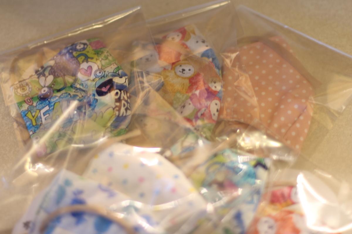 手作り子供用ガーゼマスク1枚250円