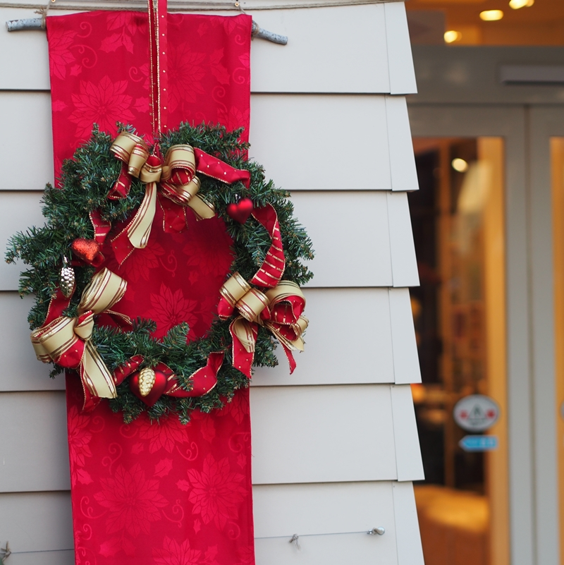 横浜イングリッシュガーデンのクリスマスリース
