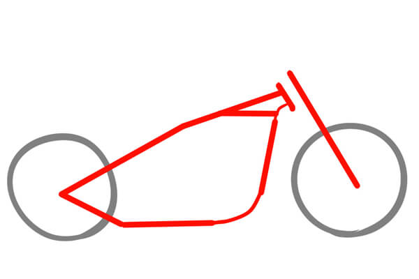 チョッパーの理想のフレーム形状