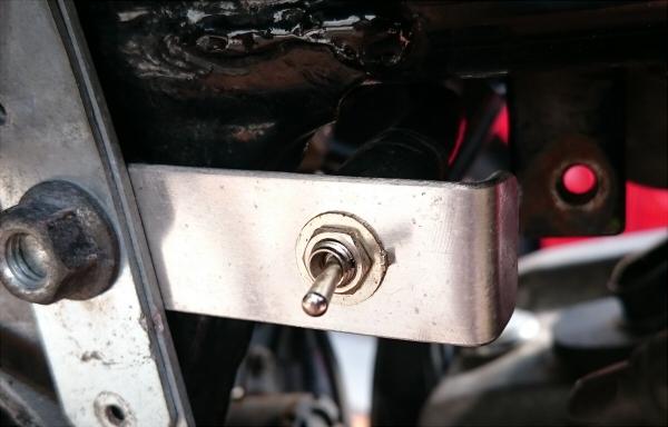 アルミ板を使用したスイッチ移設例