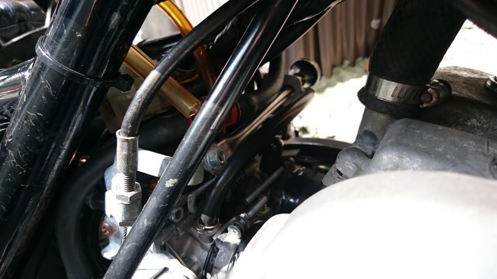 エリミネーター250SEの直引きチョーク取り付け部分