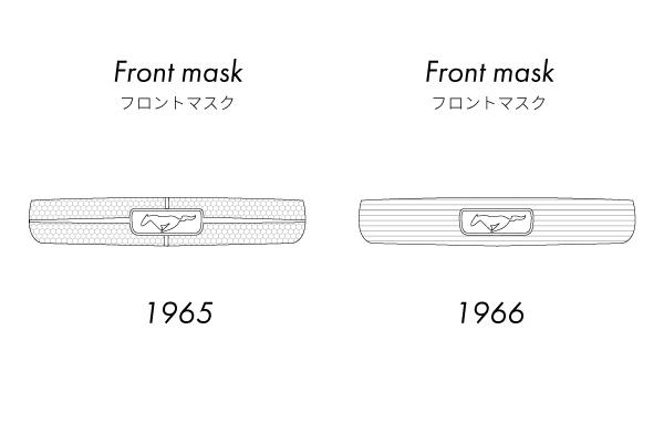 1965年式マスタングと1966年式マスタングの見比べ方
