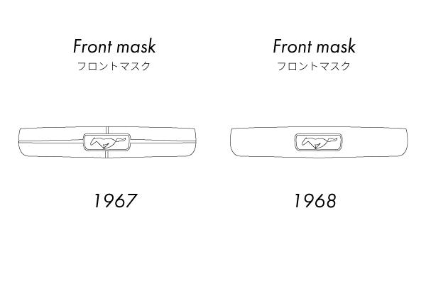 1967年式マスタングと1968年式マスタングの違い