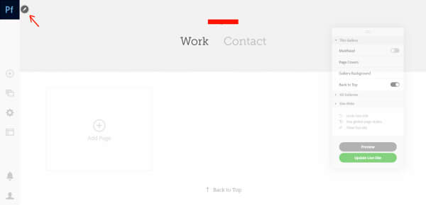 Adobe Portfolioの操作方法