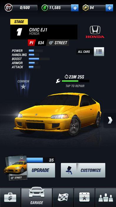 ワイスピのソーシャルゲーム【Fast&Furious Take Down】をやってみた